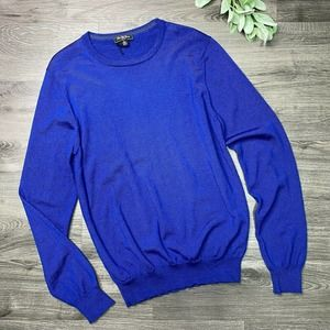 SAKS FIFTH AVENUE | sz M blue merino wool sweater